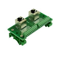 2 x RJ45 8P8C vertical Breakout board 2* RJ45 terminal blocks vertical socket