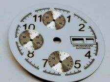 NOS Chronograph Enamel Watch Dial fits Valjoux 7750 Automatic Chronograph