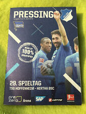 4x Programm Pressing TSG 1899 HOFFENHEIM FC Bayern Hertha BSC Hannover 96 Bayer