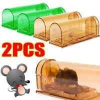 2X Mouse Trap Humane Live Catcher Rat Vermin Rodent Cage Pest No Kill Reusable