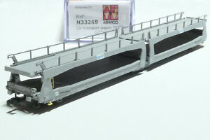MF Train N SBB 3achiger Autotransportwagen Goth grau 33269 NEU OVP