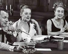 Joan Crawford, Bette Davis & Joseph Cotton rehearsing movie stars 8x10 photo