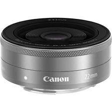 Canon EF-M 22mm f/2 STM Lens (Silver) #9808B002 BRAND NEW WHITE BOX