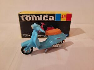 TOMICA 49 - SUZUKI GEMMA 50 [BLUE] MINT VHTF BOX GREAT MADE IN JAPAN