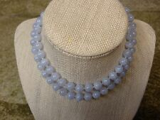 Gemisphere BLUE LACE AGATE BL3 Exquisite Plus 8mm 25 inch Therapeutic Necklace