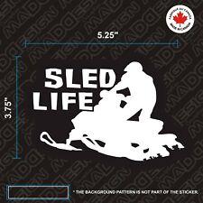 Sled Life - Sledneck - sticker decal Ski-doo - Arctic Cat Polaris BRP stickers M
