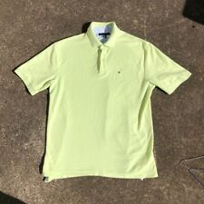 Mens Tommy Hilfiger Polo Shirt Standard Fit Extra Large Green Cotton Used