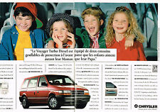 PUBLICITE ADVERTISING 025  1994  CHRYSLER  le VOYAGER TURBO DIESEL ( 2p)