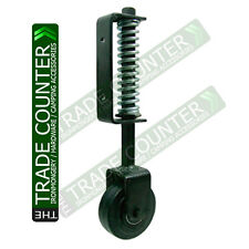Gate Wheel Spring Loaded Heavy Duty - Black - Support Jockey Door Sliding Wheels