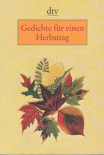 Gedichte für einen Herbsttag herausgegeben von Gudrun Bull