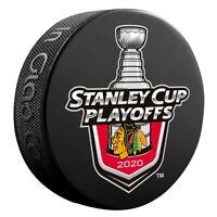 2020 NHL PLAYOFFS HOCKEY PUCK CHICAGO BLACKHAWKS 1ST 2ND ROUND STANLEY CUP FINAL