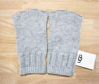 NWT UGG Women's Knit Fingerless Gloves, Grey Heather, One Size