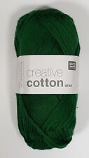 RICO DESIGN CREATIVE COTTON ARAN KNITTING YARN - 50g - ***ALL COLOURS***