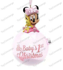 Disney Parks Ornament Baby'S First Christmas Minnie Mouse Girl Pink Nwt
