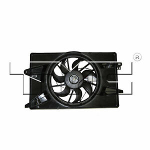 TYC Dual Radiator and Condenser Fan For 2013-2016 Dodge Dart