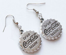 Boucles d'oreille Coca Cola Argentées -Vintage Earrings Coke silver