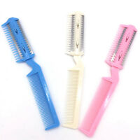 Pet Hair Trimmer Comb 2 Razor Rakes Cutting Grooming Clean Tool for Dog Cat IO