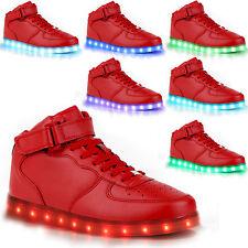 Unisex LED Schuhe Herren Damen Leuchtend Sneaker Blinkschuhe Farbwechsel 12Größe