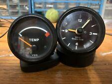 Vintage Vdo Clock Amp Temp Gauge For 1974 76 Porsche 914 914 641 119 10 003 0030