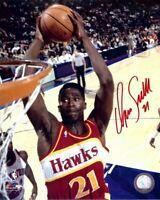 Dominique Wilkins Signed Autographed 8X10 Photo Hawks Close-up Dunk w/COA