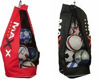 Maxx Heavy Duty Football Netball Rugby 8/10 Ball Carry Sack Holdall Bag Boxing f