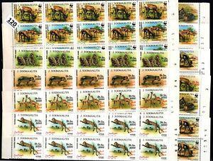 // 10X SOMALIA 1992 - MNH - WWF - ANIMALS - WHOLESALE