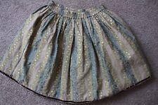 SALE Jottum Rembrandt vintage skirt/jupe/rok/Rocke size 140 / 10 gold/prussian