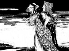 Nero e Bianco, streghe, due vecchie signore, 1920 S, A3 Print-acquista 1 ottenere 1 GRATIS