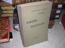 1906.pages sociales / Leroy.action populaire.catholicisme social