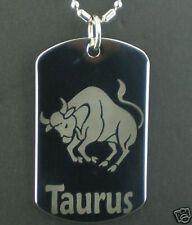 TAURUS  zodiac horoscope star  Dog Tag Pendant Necklace