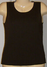 Charter Club Sleeveless Silk Blouse Top Coffee Brown Size Small New with Tags