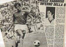 GA19- Clipping-Ritaglio 1974 Angelo Domenghini
