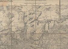 cartina alpina -valtornenche  - 1:50.000 - in tessuto telato -