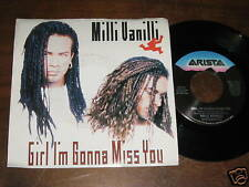 Milli Vanilli 80s POP R&B PICTURE SLEEVE 45 Girl Im Gon