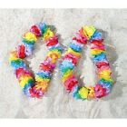 12 Pack of Rainbow Colored Flower Hawaiian Leis -Tropical Gay Pride Parade Decor