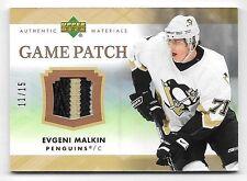 07/08 Upper Deck Game Patch #EM Evgeni Malkin 3 Color Patch #11/15