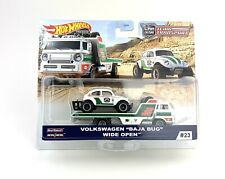 Hot Wheels 2020 Car Culture Team Transport Vw Baja Bug with Wide Open Truck
