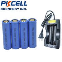 4 18650 Li-ion Akkus Rechargeable Vape Battery 2200mAh 3.7V + Charger