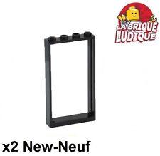 Lego - 2x Door Porte 1x4x6 frame cadre type2 noir/black 60596 NEUF