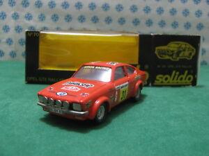 Vintage - Opel GTE 2700cc. Coupé Rally Montecarlo 78 - 1/43 Solido N°70