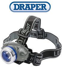 Draper 51296 Expert 3w LED Head Lamp (3 X AAA Batteries)