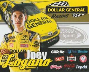 2012 Joey Logano Dollar General Toyota Camry NASCAR Sprint Cup postcard
