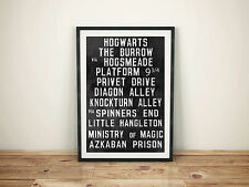 HARRY POTTER A4 POSTER PICTURE RETRO 'TRAM STYLE' PRINT HOGWARTS DIAGON ALLEY