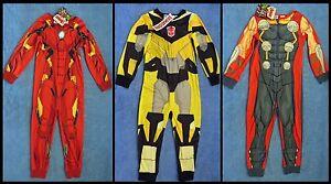 Boys Sleepsuit Costume Iron Man, Thor  or Transformer, Book Week Sizes 3-7 BNWTs