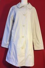 Womens CABELAS  Button Front Fully Lined Trench Walking Coat Birch Size Medium