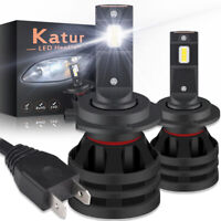 2X H7 LED Headlight Kit 200W High or Low Beam Bulbs 6000K Bright VS Xenon HID UK