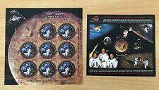 Rumänien 2009 Bl. und KB Raumfahrt Apollo 11. Postfrisch