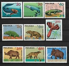 Polska, Poland Fi. 1506/14 ** Prehistoric Animals Mi. 1655/63