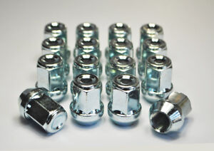 """Set of 16 x 7/16"""" UNF, 19mm Hex Alloy Wheel Nuts (Silver)"""