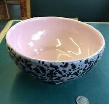 """Vintage Hull Pottery 29 USA Black With Pink Splatter Speckled 6"""" Bowl Serving"""